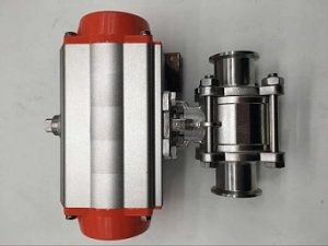 Air Actuated Ball Valve, Sanitary, Air Actuated #3 Sml